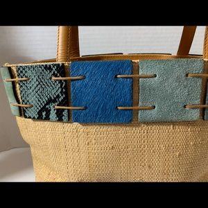 berge Bags - New summer woven and blue handbag